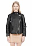 ALEXANDER WANG CROPPED BIKER LEATHER JACKET PARKA Adult 8_n_e