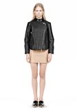 ALEXANDER WANG CROPPED BIKER LEATHER JACKET PARKA Adult 8_n_f