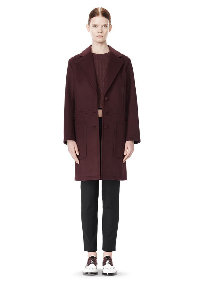 ALEXANDER WANG LOW WAISTED BONDED COAT  JACKETS AND OUTERWEAR  Adult 12_n_d