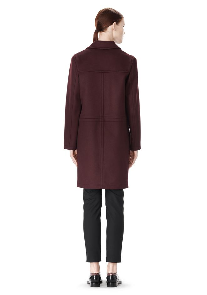 ALEXANDER WANG LOW WAISTED BONDED COAT  JACKETS AND OUTERWEAR  Adult 12_n_r