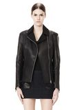 ALEXANDER WANG EXCLUSIVE LEATHER BIKER JACKET WITH RAW EDGE FINISH Jacket Adult 8_n_d