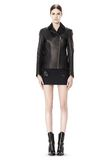 ALEXANDER WANG EXCLUSIVE LEATHER BIKER JACKET WITH RAW EDGE FINISH Jacket Adult 8_n_f