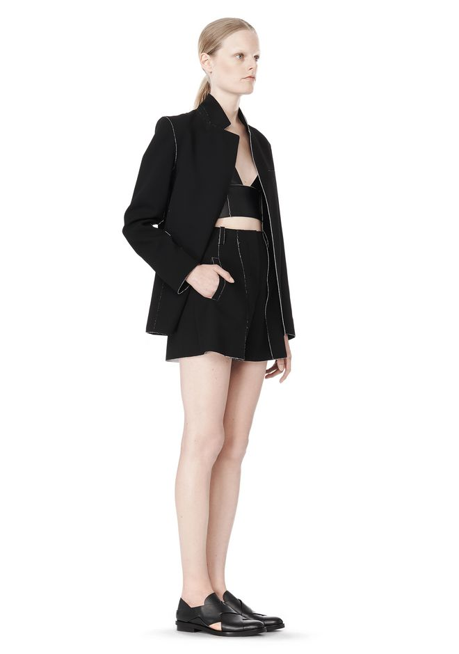 T by ALEXANDER WANG DOUBLE FACE BONDED COLLAR BLAZER JACKETS AND OUTERWEAR  Adult 12_n_e