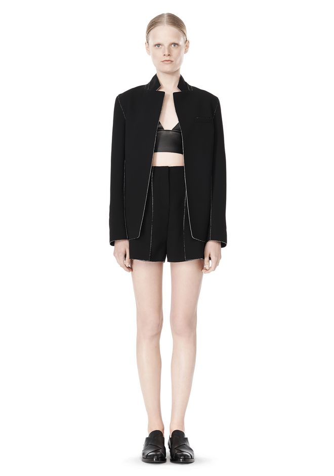 T by ALEXANDER WANG DOUBLE FACE BONDED COLLAR BLAZER JACKETS AND OUTERWEAR  Adult 12_n_f
