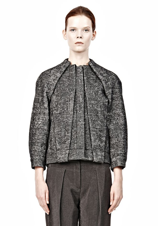 ALEXANDER WANG TUCKED AND FOLDED JEAN JACKET WITH BLOUSON BACK Jacket Adult 12_n_d