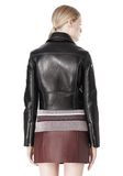T by ALEXANDER WANG BONDED LEATHER MOTORCYCLE JACKET Jacket Adult 8_n_d