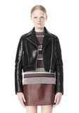 T by ALEXANDER WANG BONDED LEATHER MOTORCYCLE JACKET Jacket Adult 8_n_e
