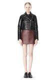 T by ALEXANDER WANG BONDED LEATHER MOTORCYCLE JACKET Jacket Adult 8_n_f