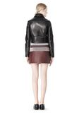 T by ALEXANDER WANG BONDED LEATHER MOTORCYCLE JACKET Jacket Adult 8_n_r