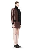 T by ALEXANDER WANG LEATHER NEOPRENE VARSITY JACKET Jacket Adult 8_n_e