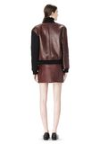 T by ALEXANDER WANG LEATHER NEOPRENE VARSITY JACKET Jacket Adult 8_n_r