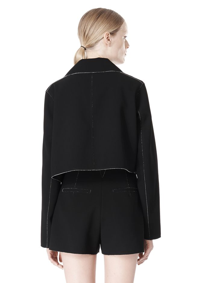 T by ALEXANDER WANG DOUBLE FACE BONDED TRENCH JACKET JACKETS AND OUTERWEAR  Adult 12_n_a