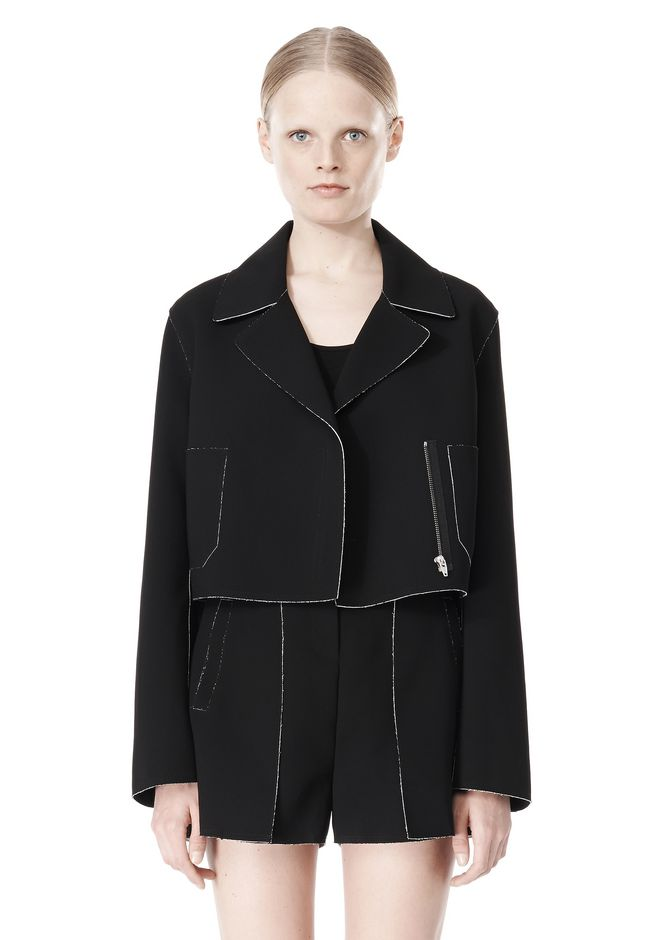 T by ALEXANDER WANG DOUBLE FACE BONDED TRENCH JACKET JACKETS AND OUTERWEAR  Adult 12_n_d