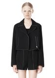T by ALEXANDER WANG DOUBLE FACE BONDED TRENCH JACKET JACKETS AND OUTERWEAR  Adult 8_n_d