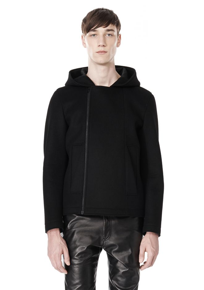 ALEXANDER WANG HOODED JACKET WITH WELT POCKET Jacket Adult 12_n_e