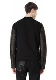 T by ALEXANDER WANG COTTON CANVAS TWILL JACKET WITH LEATHER SLEEVES Jacket Adult 8_n_d