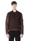 T by ALEXANDER WANG COTTON CANVAS TWILL JACKET WITH LEATHER SLEEVES Jacket Adult 8_n_e