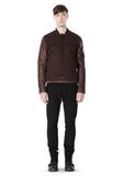 T by ALEXANDER WANG COTTON CANVAS TWILL JACKET WITH LEATHER SLEEVES Jacket Adult 8_n_f