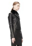 T by ALEXANDER WANG PEBBLED LEATHER MOTORCYCLE JACKET Jacket Adult 8_n_a