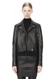 T by ALEXANDER WANG PEBBLED LEATHER MOTORCYCLE JACKET Jacket Adult 8_n_d