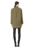 T by ALEXANDER WANG MESH BONDED NEOPRENE COLLARLESS COCOON COAT JACKETS AND OUTERWEAR  Adult 8_n_r
