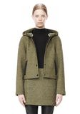 T by ALEXANDER WANG MESH BONDED NEOPRENE HOODED JACKET Jacket Adult 8_n_d