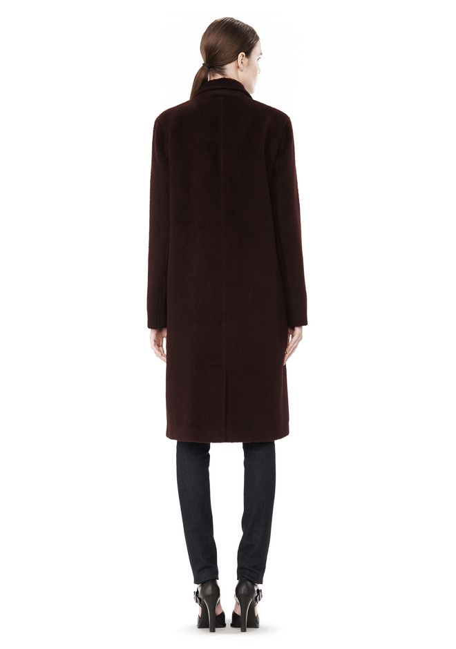 T by ALEXANDER WANG MOHAIR ALPACA WOOL FELT LONG CAR COAT JACKETS AND OUTERWEAR  Adult 12_n_r