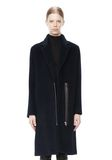 T by ALEXANDER WANG MOHAIR ALPACA WOOL FELT LONG CAR COAT JACKETS AND OUTERWEAR  Adult 8_n_d
