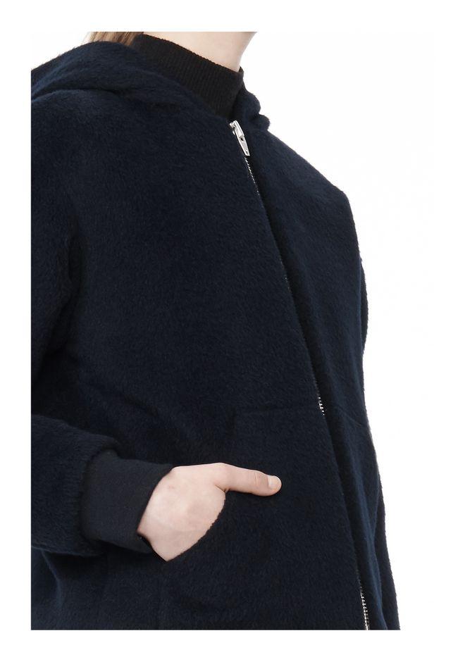 T by ALEXANDER WANG MOAHIR ALPACA WOOL FELT HOODED JACKET Jacket Adult 12_n_a