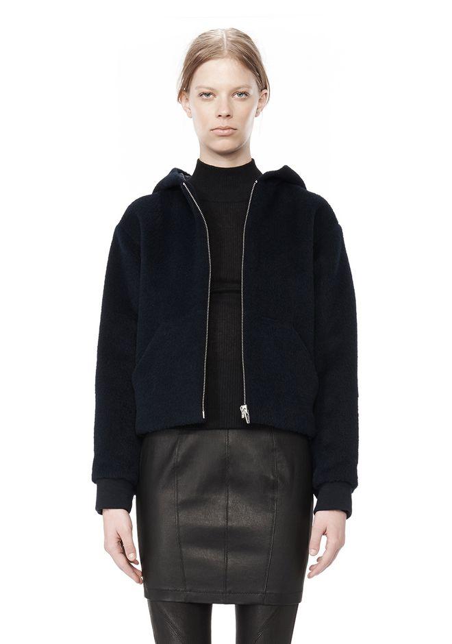 T by ALEXANDER WANG MOAHIR ALPACA WOOL FELT HOODED JACKET Jacket Adult 12_n_d