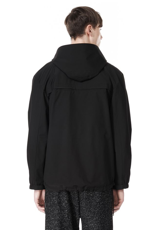 T by ALEXANDER WANG LAMINATED TROPICAL HOODED ANORAK JACKETS AND OUTERWEAR  Adult 12_n_d