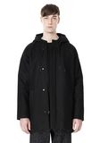 T by ALEXANDER WANG WOOL NYLON FELT & MESH COMBO DUFFEL COAT JACKETS AND OUTERWEAR  Adult 8_n_e