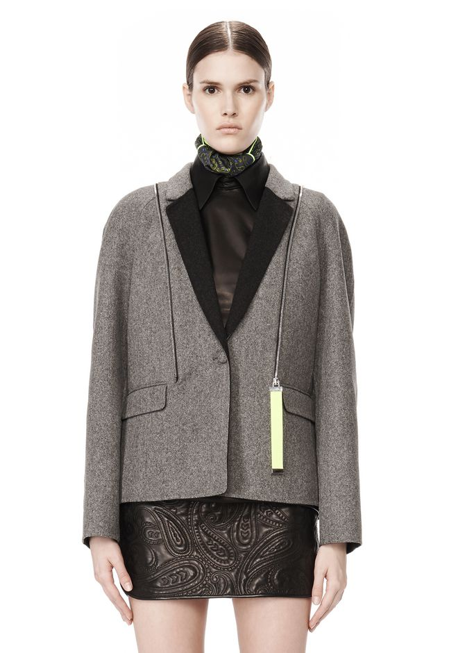 ALEXANDER WANG WELDED OVERSIZED PARKA WITH CONNECTED BLAZER PARKA Adult 12_n_d