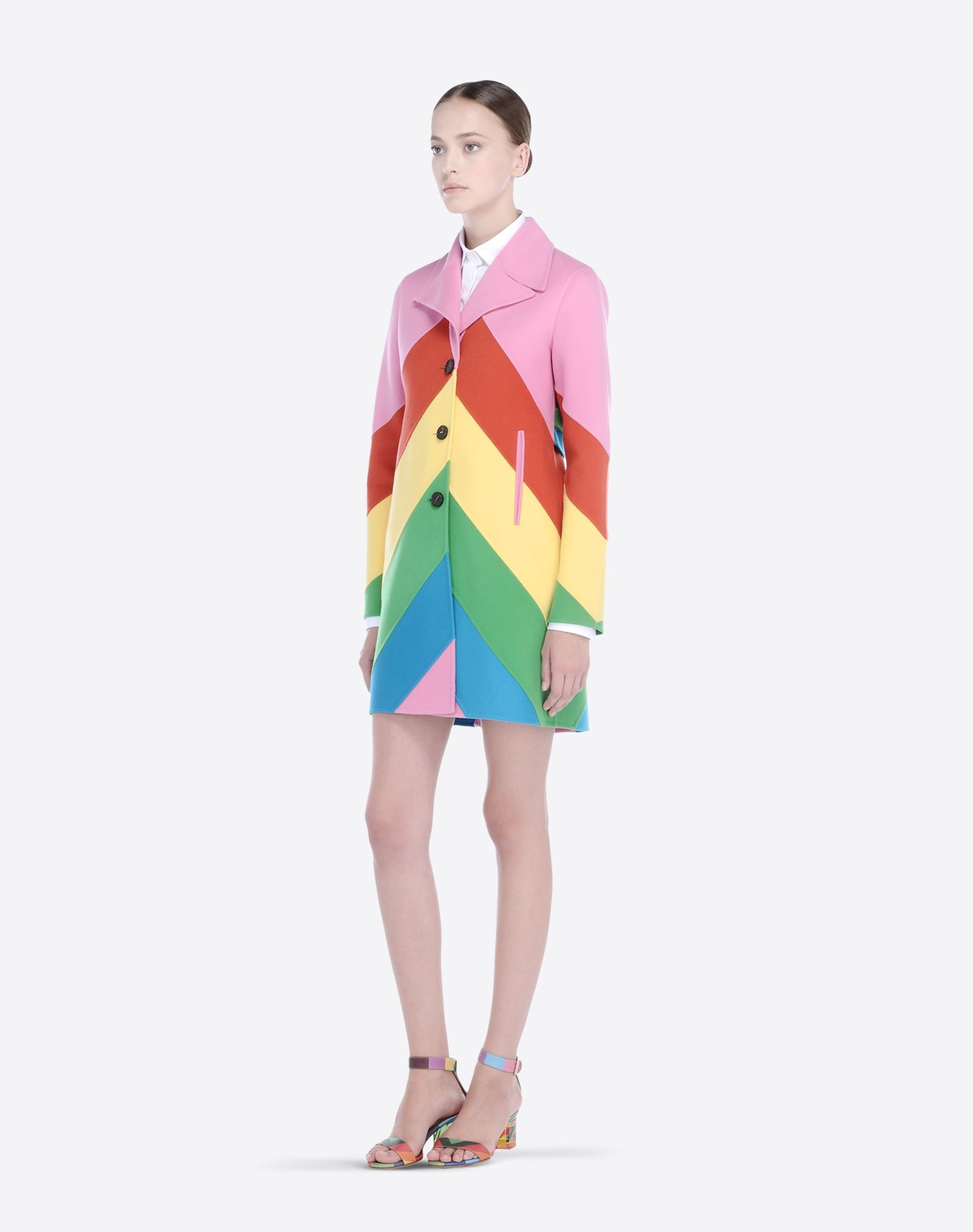 VALENTINO Flannel Multicolor Pattern Lapel collar Two pockets Button closing Long sleeves  41482710jj