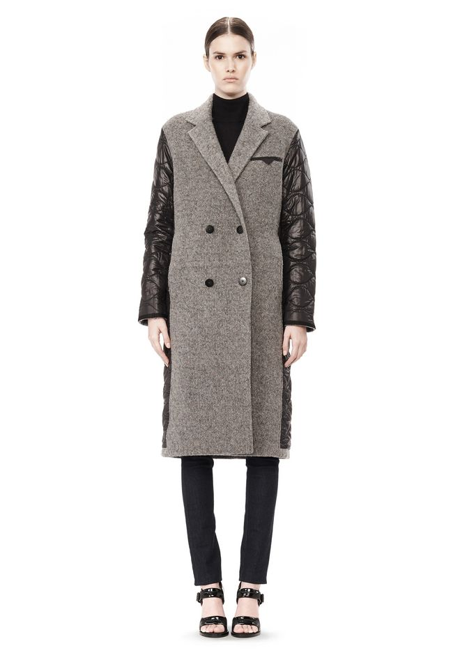 T by ALEXANDER WANG DONEGAL & NYLON QUILTED COMBO REVERSIBLE COAT JACKETS AND OUTERWEAR  Adult 12_n_f