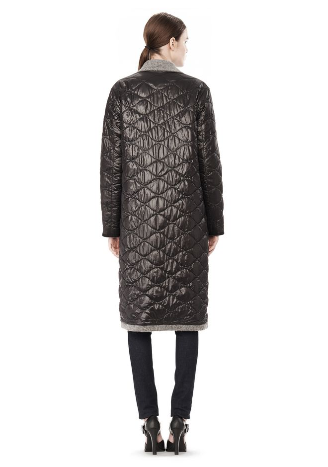 T by ALEXANDER WANG DONEGAL & NYLON QUILTED COMBO REVERSIBLE COAT JACKETS AND OUTERWEAR  Adult 12_n_r