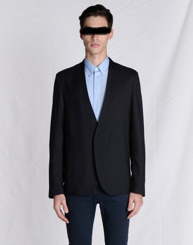 Maison Margiela Collarless Blazer With Magnetic Front