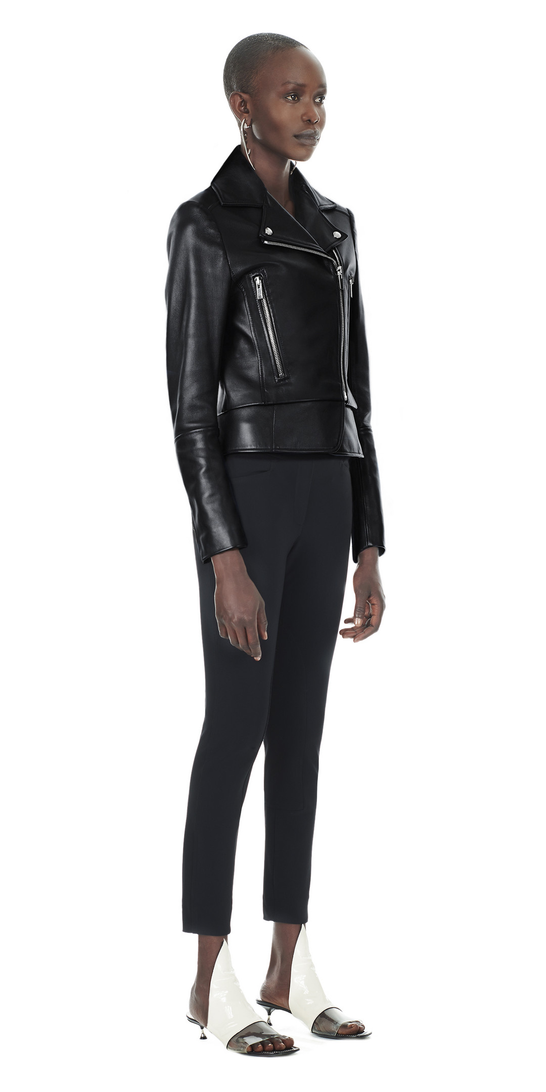 Balenciaga Genuine Biker  Black  Women39;s Jacket