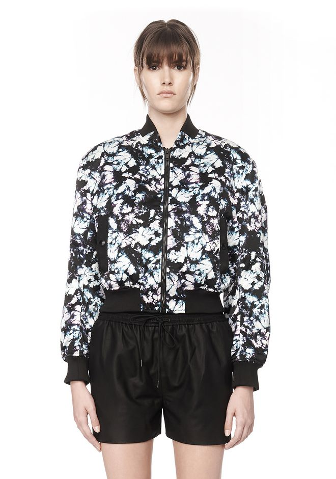 ALEXANDER WANG BOMBER WITH WEBBING DETAIL Jacket Adult 12_n_e