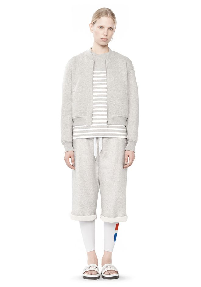 T by ALEXANDER WANG BONDED FLEECE BOMBER JACKET JACKETS AND OUTERWEAR  Adult 12_n_f
