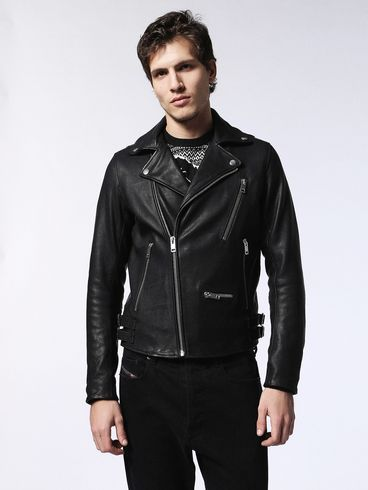 DIESEL Leather jackets U L-GIBSON-1 f