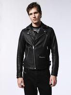 DIESEL L-GIBSON-1 Leather jackets U f