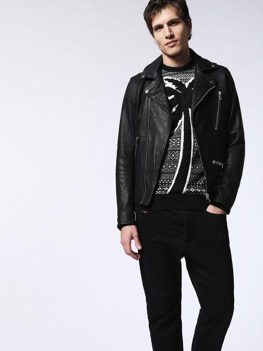 DIESEL L-GIBSON-1 Leather jackets U a