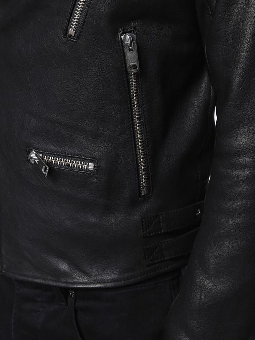DIESEL L-GIBSON-1 Leather jackets U b