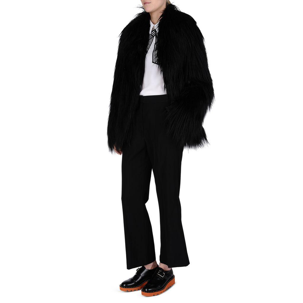 Black Fur Free Fur Dan Coat - STELLA MCCARTNEY