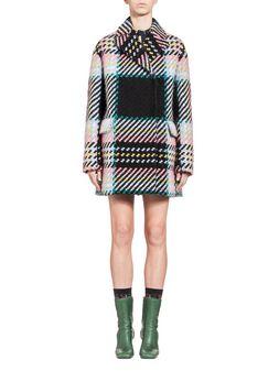 Marni Coat in bonded macro tweed check  Woman