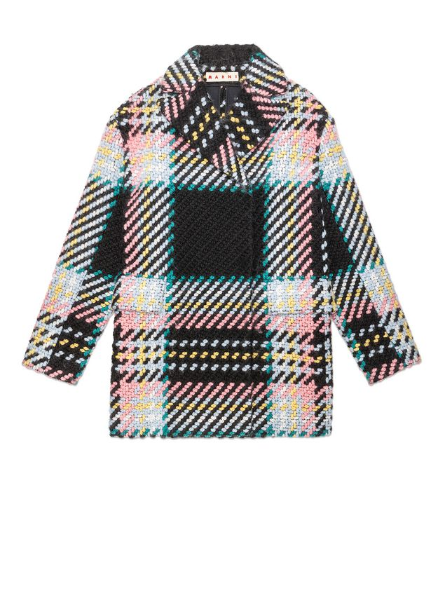 ee2be191bf93 Coat In Bonded Macro Tweed Check from the Marni Spring Summer ...