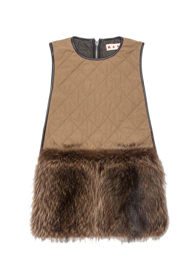 Marni Gilet in marmotta con profili in pelle e pelliccia Donna - 2