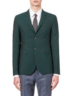 Marni Two-buttoned runway jacket in washed cool wool Man