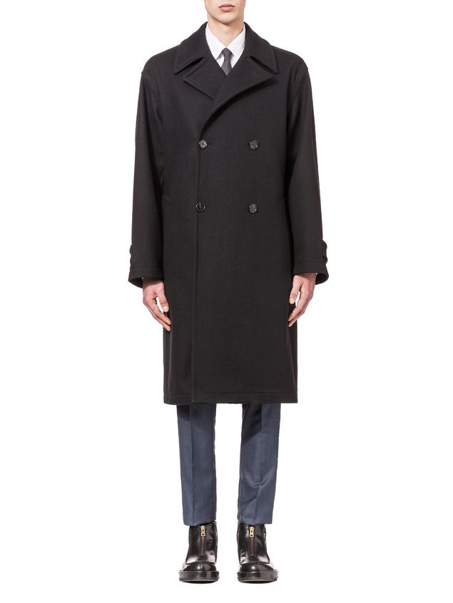 503b91eb4f1 Runway Coat In Felt With Belt And Frogs from the Marni Fall/Winter ...